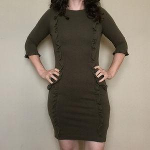 Dresses & Skirts - NWOT Traffic People Olive, Contour Dress S